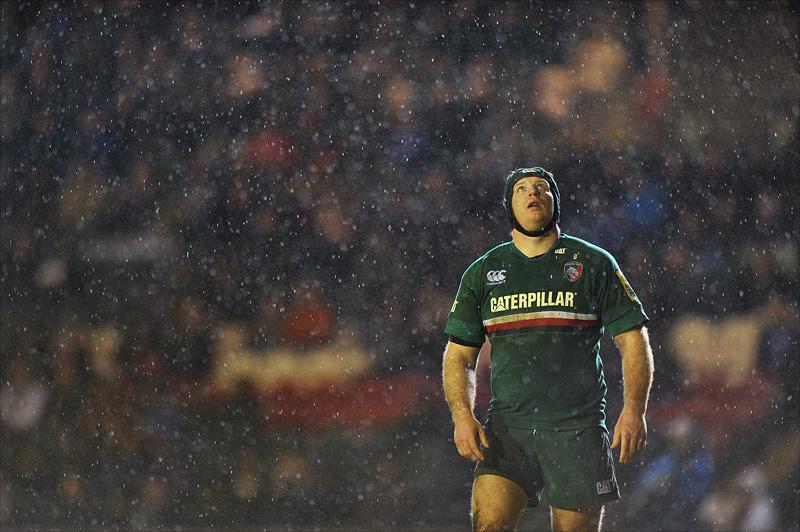 Thomas Waldrom in the rain