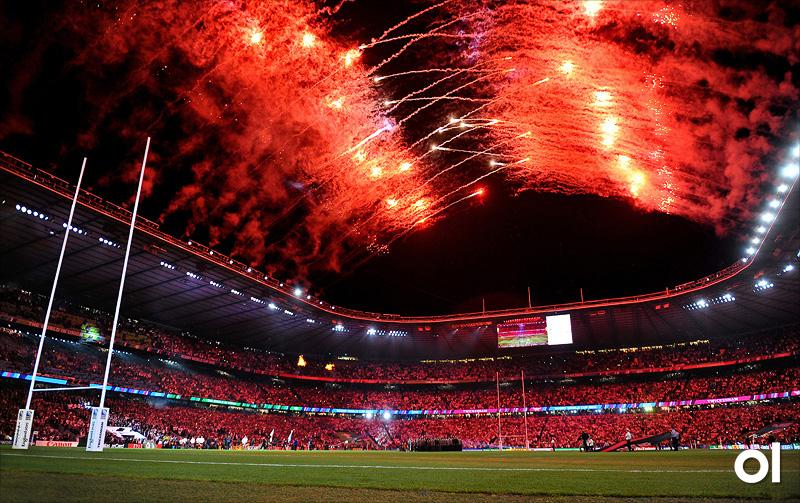 Fireworks - England v Fiji