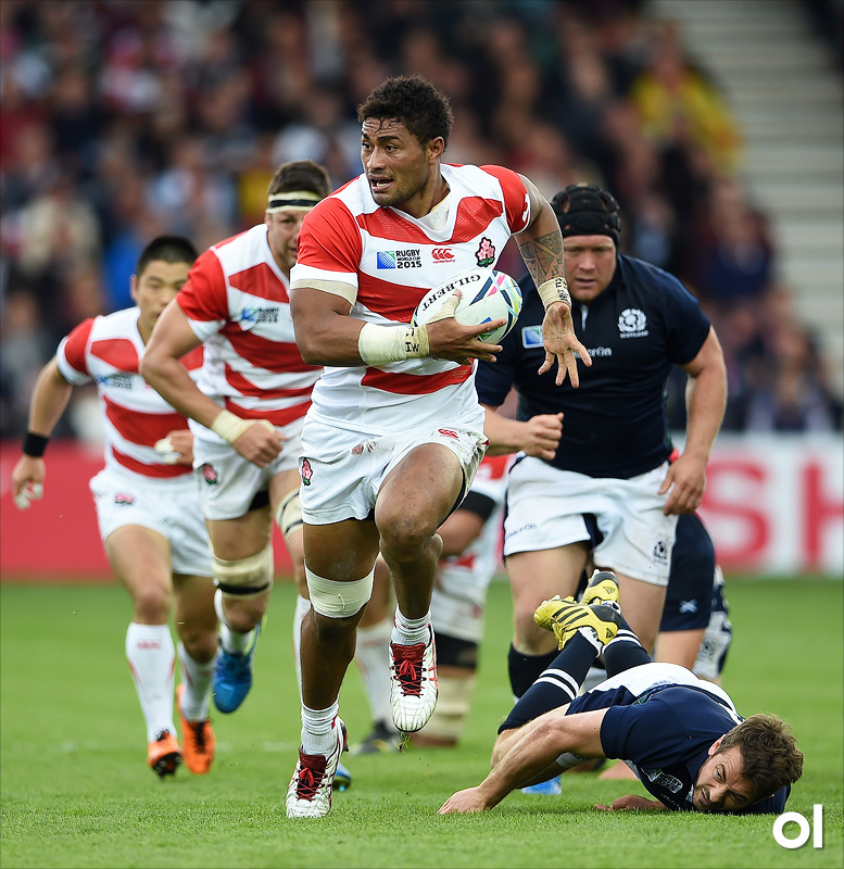 Amanaki Mafi of Japan - Scotland v Japan