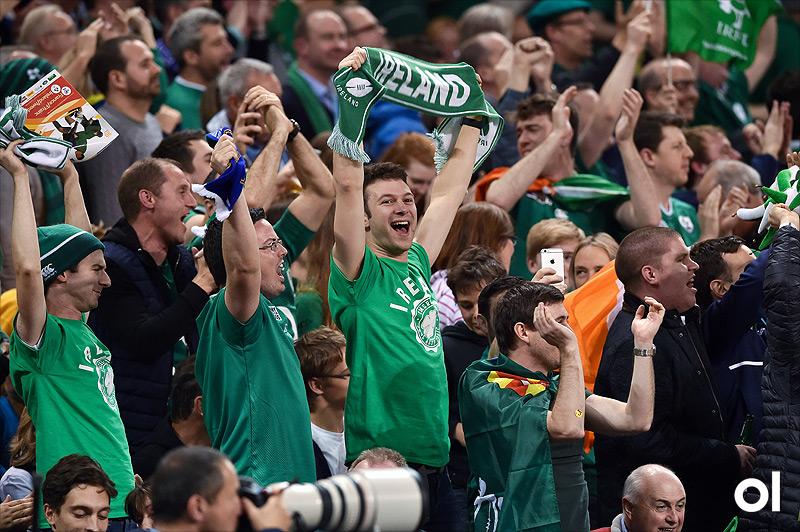 Ireland supporters - France v Ireland