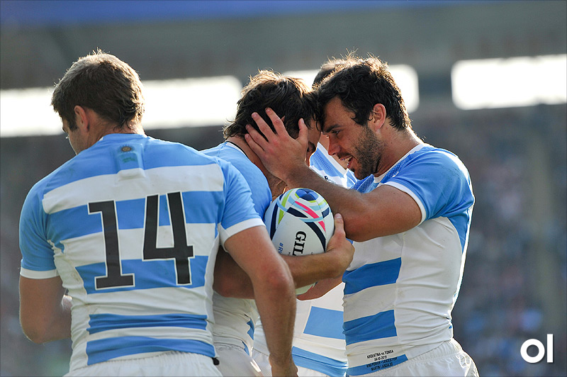 Nicolas Sanchez and Martin Landajo - Argentina v Tonga