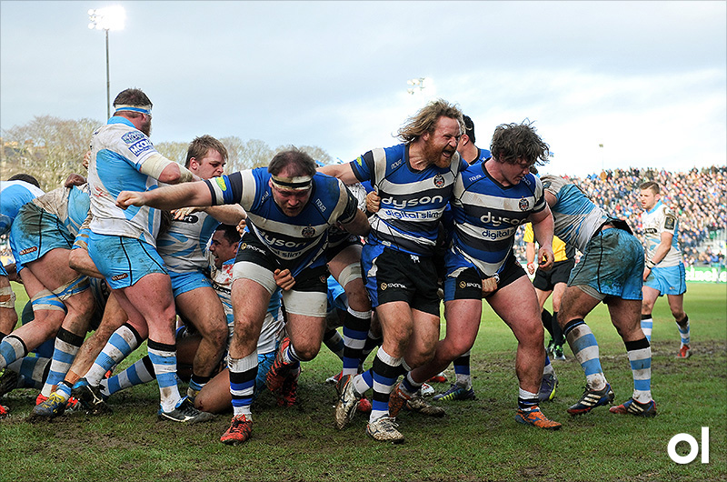 Bath front row - Bath v Glasgow Warriors