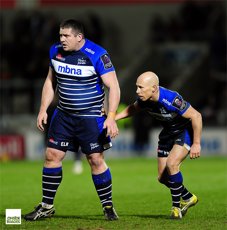 Eifion Lewis-Roberts and Peter Stringer - Sale Sharks v Montpellier