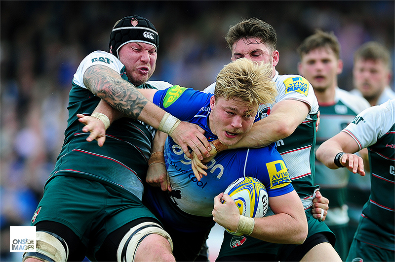 David Denton - Bath Rugby v Leicester Tigers