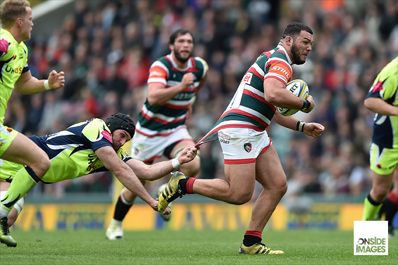 Last ditch tackle on Ellis Genge of Leicester Tigers