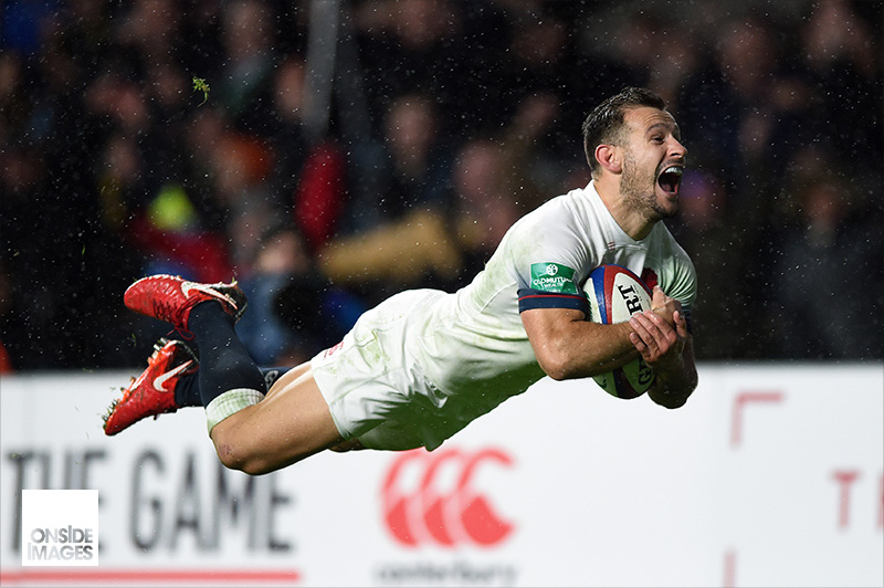 Danny Care of England rounds off a big win against the Wallabies