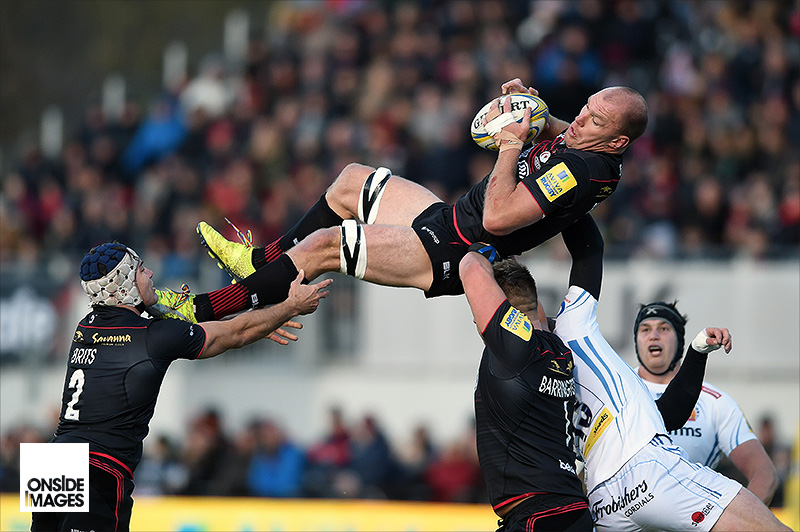 Schalk Burger of Saracens in for a bumpy landing